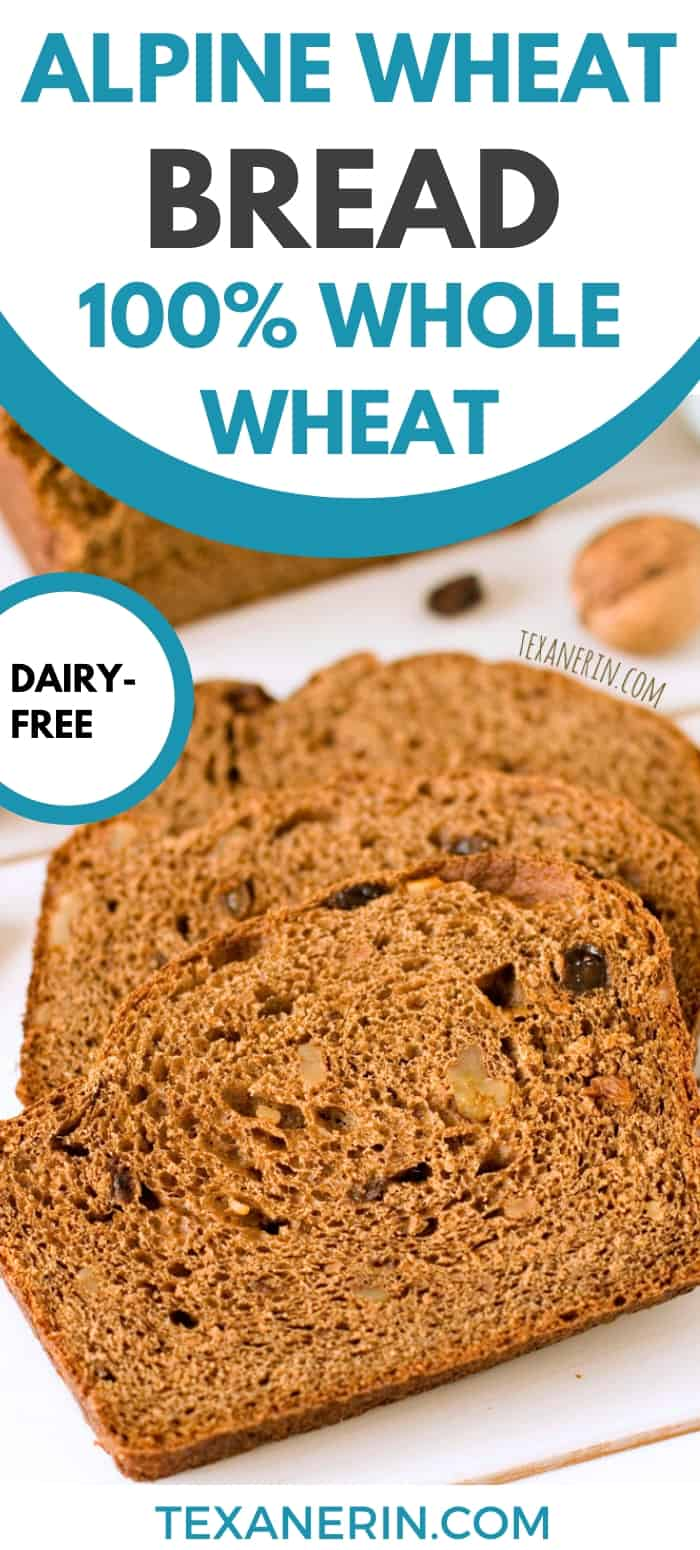 This 100% whole wheat loaf is inspired by the Swiss cereal, Müesli, and is full of cinnamon flavor and studded with raisins and walnuts!