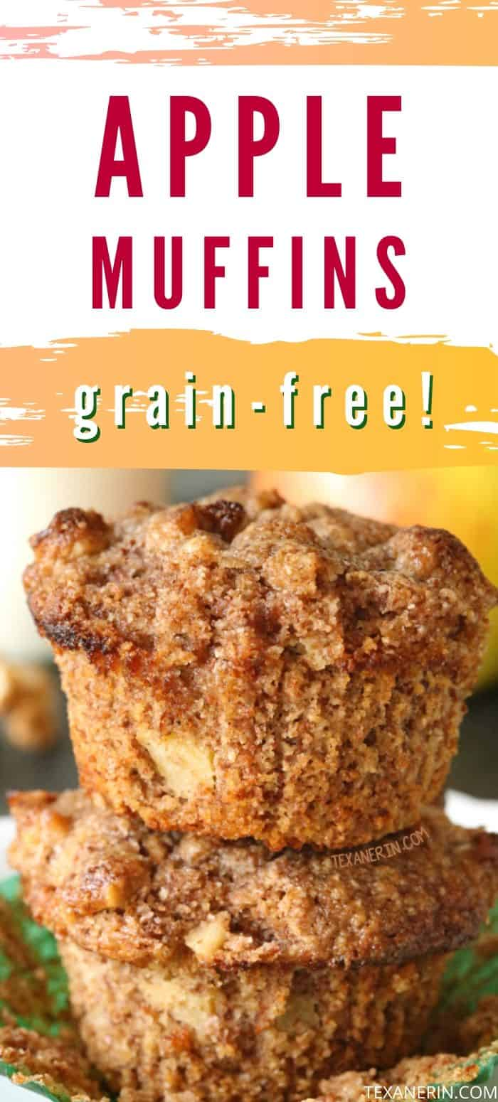 These super moist apple muffins have the most amazing texture and are super simple to make! Grain-free and gluten-free.