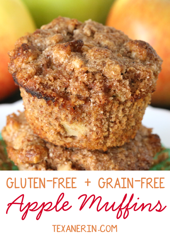 Gluten–free and grain–free apple muffins – super moist, simple and delicious! | texanerin.com