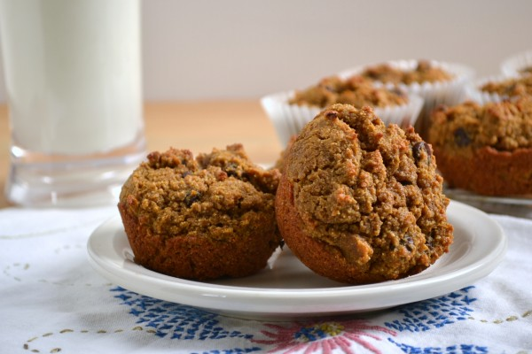 Multigrain pumpkin chocolate chip muffins