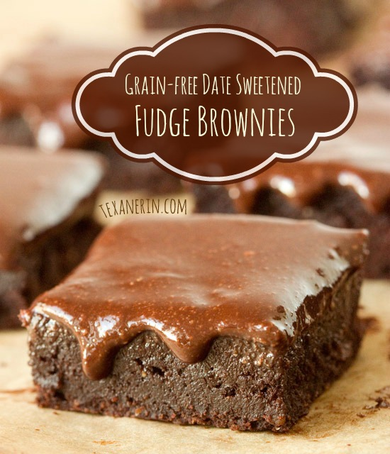 Grain-free and dairy-free fudge brownies – totally date sweetened!