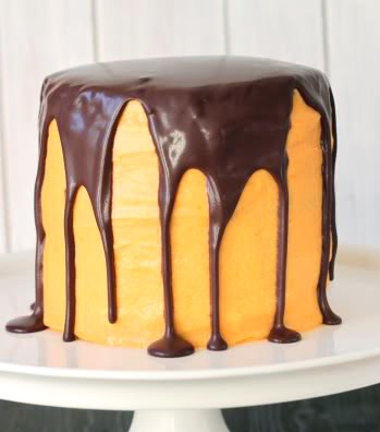 This Chocolate Orange Halloween Cake is 100% whole grain!