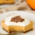 Lighter Pumpkin Cheesecake Bars