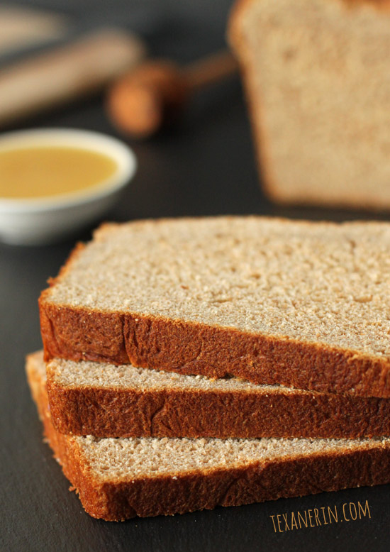 100% Whole Wheat Sandwich Bread and a giveaway! | texanerin.com
