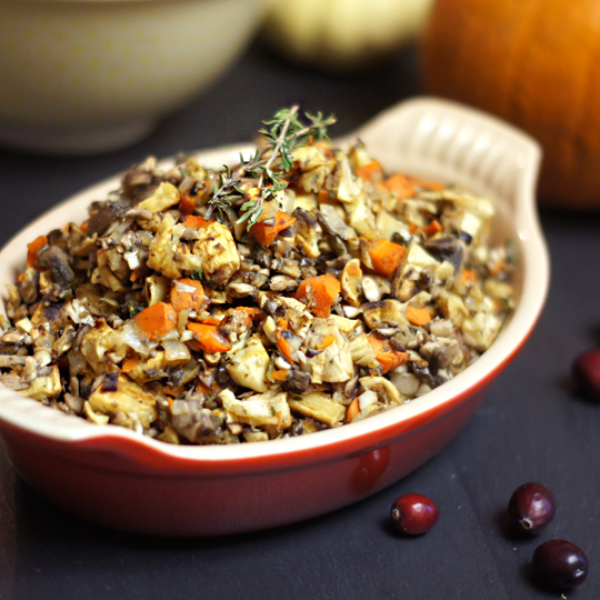 Grain-Free Stuffing (Low-Carb, Low-Fat) from The Detoxinista