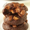 Chewy Chocolate Peanut Butter Cup Cookies (100% whole wheat)