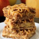 Dulce de Leche Apple Streusel Bars (100% whole grain option)