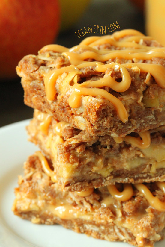 Healthier Dulce de Leche Apple Streusel Bars from texanerin.com