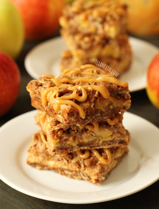 Dulce de Leche (Caramel) Apple Streusel Bars from texanerin.com