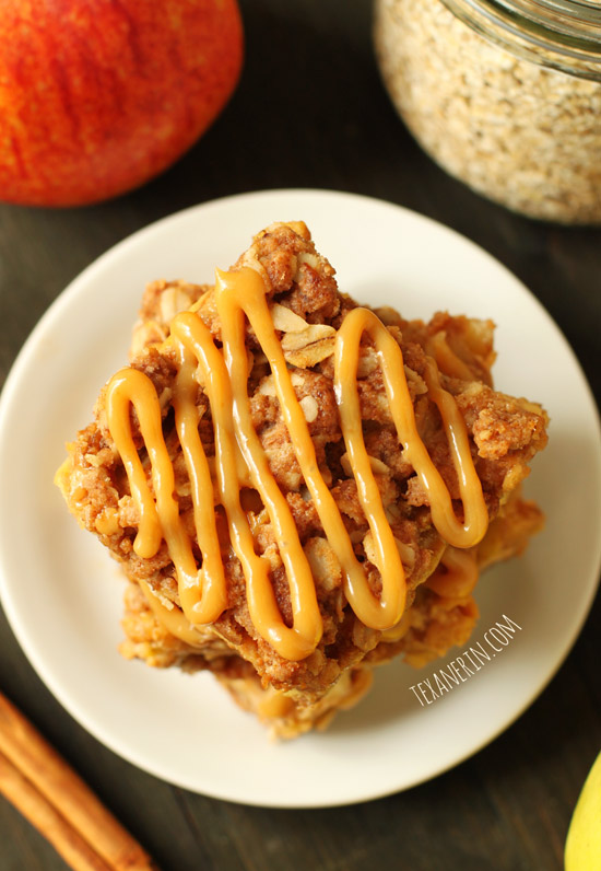 Dulce de Leche Apple Streusel Bars from texanerin.com – made healthier!