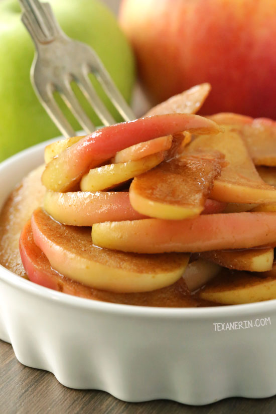 These sauteed apples are lightly naturally sweetened with maple syrup and are quick and easy to prepare! They also happen to be gluten-free, vegan, paleo, dairy-free.