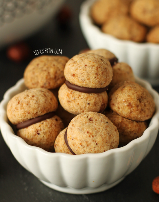 Baci di dama, Italian Hazelnut Cookies, from texanerin.com – can be made gluten-free, whole wheat or with all-purpose flour!