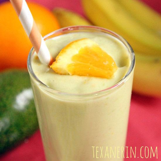 Banana Orange Avocado Smoothie   texanerin.com