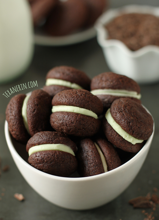 Soft Chocolate Mint Sandwich Cookies from texanerin.com