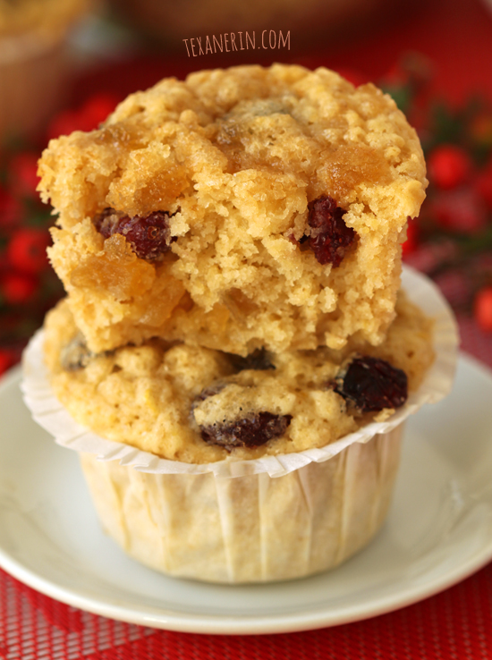 Cranberry, Lemon and Ginger Muffins from texanerin.com – soft, moist ...