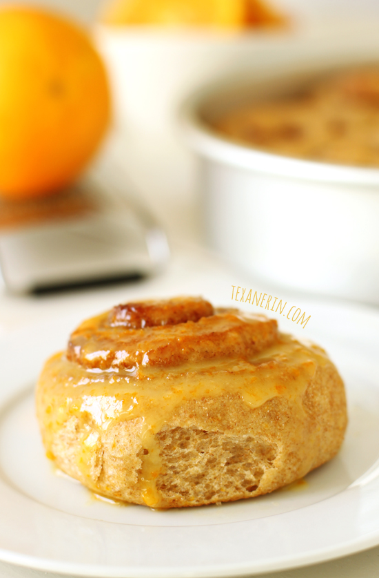 Healthier Orange Sweet Rolls from texanerin.com – so soft and delicious!