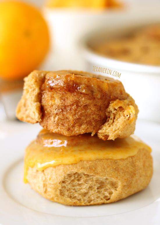 Healthier Orange Sweet Rolls from texanerin.com