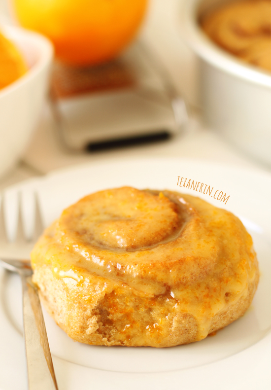 Healthier Orange Sweet Rolls from texanerin.com – 100% whole grain and made with less sugar!