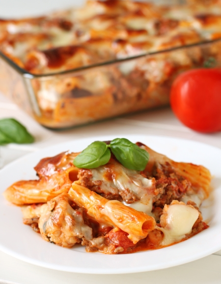 Baked Rigatoni with Cauliflower