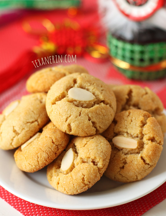 Grain-free Chinese Almond Cookies from texanerin.com. Also vegan, dairy-free and Paleo!