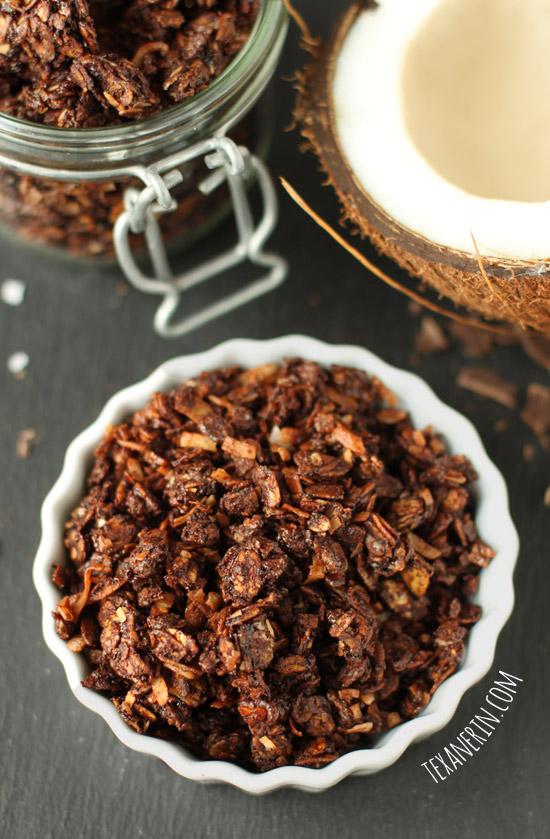 Chocolate Coconut Granola from texanerin.com