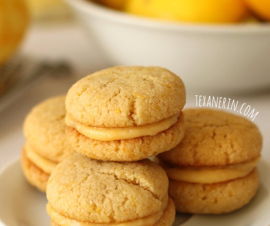 Chewy Lemon Cookie Sandwiches (grain-free, dairy-free)