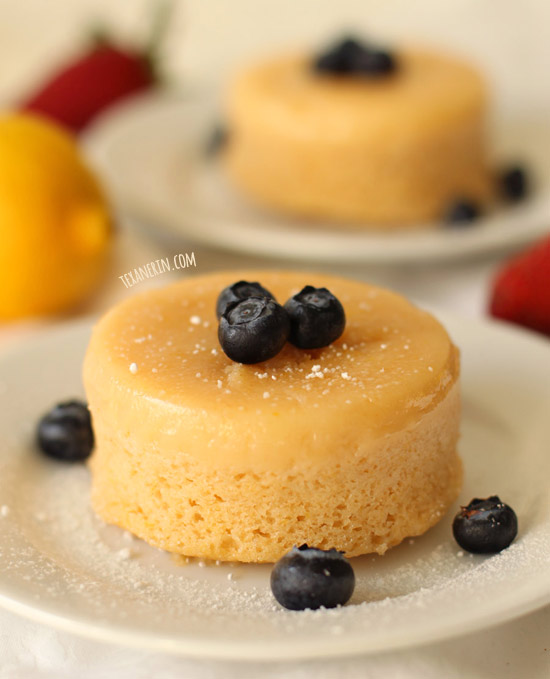 Small Batch Lemon Pudding Cakes
