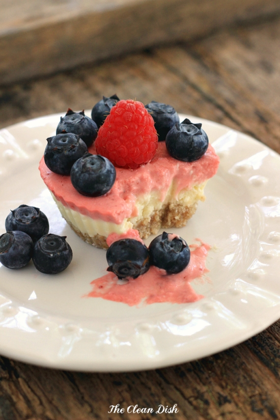 Raw Mini Mascarpone Berry Cakes – grain-free, gluten-free, and sweetened with just a little maple syrup!