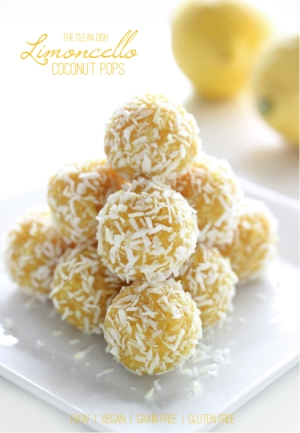 These Limoncello Coconut Pops are raw, vegan, grain-free, gluten-free, and refined sugar free!