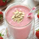 Strawberry Ginger Banana Smoothie (Anti-nausea Smoothie)