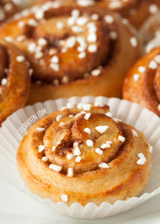 Whole Wheat Swedish Kanelbullar - the original cinnamon buns!