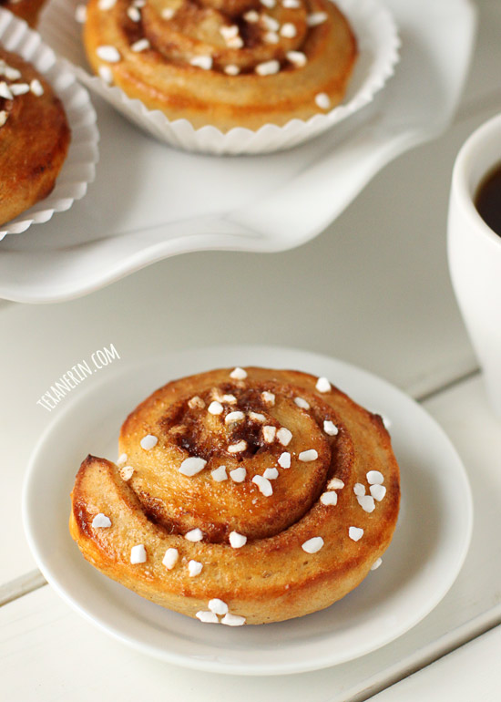 Lightly sweetened Whole Wheat Kanelbullar (Swedish Cinnamon Buns)