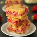 Strawberry White Chocolate Blondies (100% whole grain)