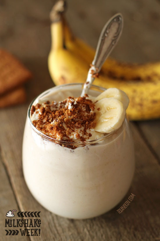 Healthy Banana Cream Pie Milkshake (gluten-free, vegan options ...