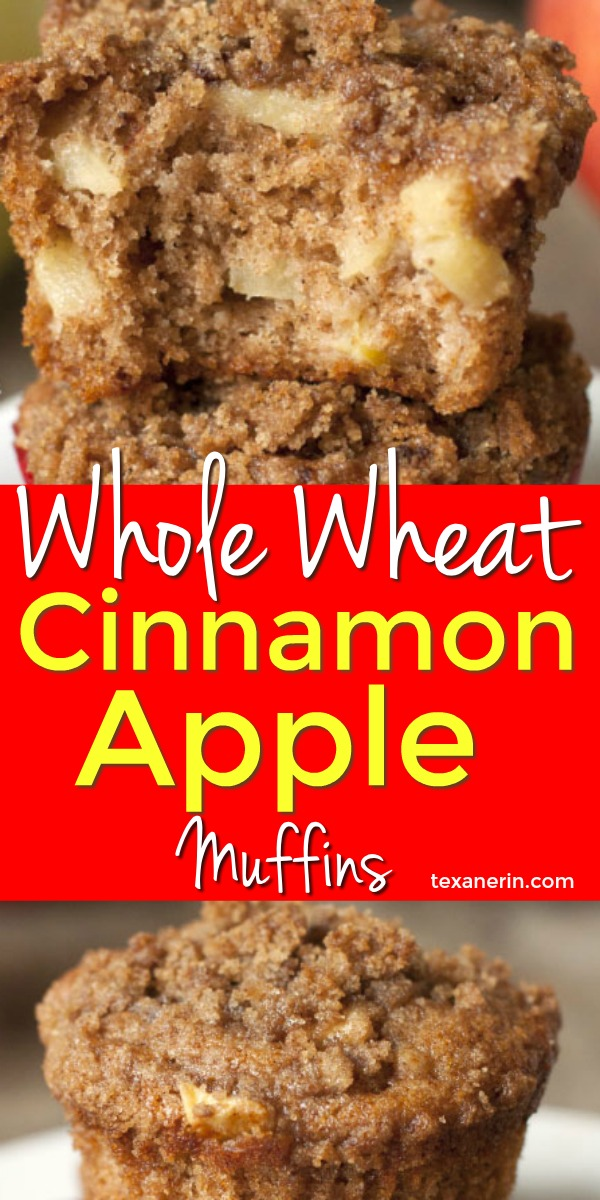 These whole wheat cinnamon apple muffins are made healthier with 100% whole grains, olive oil (or another oil of choice), and less sugar than a typical muffin! So moist and delicious.