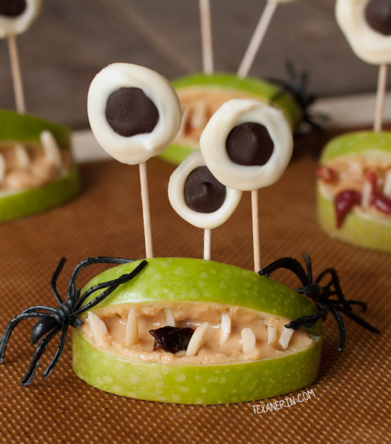 Halloween Monster Mouths - a great health Halloween snack! Free of processed food and naturally paleo, vegan and gluten-free. Can also be made nut-free.