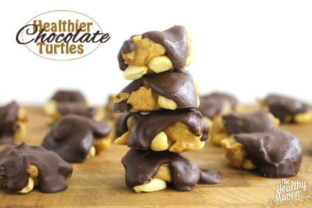 Healthier chocolate turtles (GF, V, DF)
