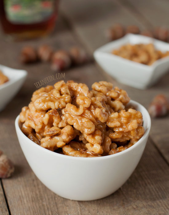 Maple Candied Walnuts – all you need is walnuts, maple syrup and a ...
