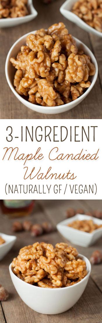 Healthier Maple Candied Walnuts - Texanerin Baking