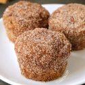 Cinnamon Sugar Pumpkin Muffins (vegan, dairy-free, whole grain)