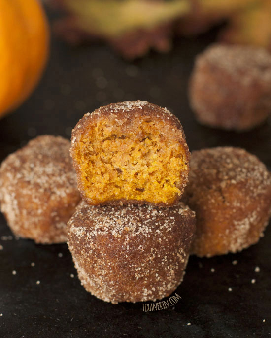 Whole Wheat Pumpkin Donut Holes that happen to be vegan and dairy-free ...