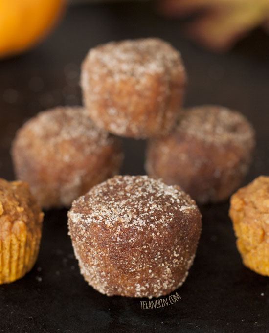 Vegan Pumpkin Donut Holes (100% whole wheat, dairy-free) – Texanerin ...
