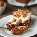 Pumpkin Cake with Maple Mascarpone Frosting  (gluten-free, whole grain, all-purpose flour options)