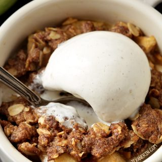Apple Crumbles for Two (gluten-free, vegan, whole grain)