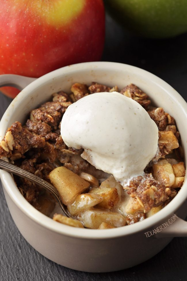 These Apple Crumbles for Two are gluten-free, vegan, 100% whole grain and dairy-free!