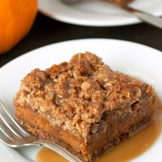 Pumpkin Pie Streusel Bars – 100% whole grain and gluten-free.