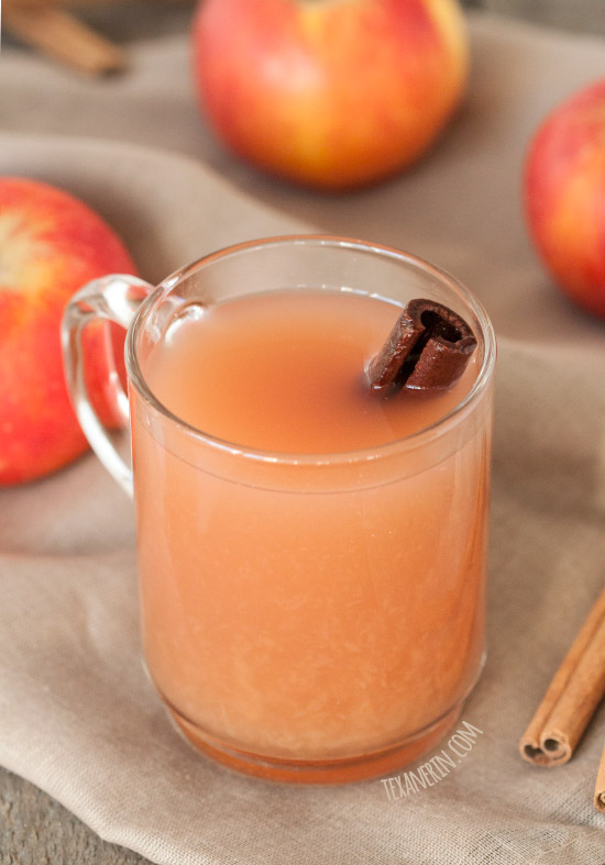 Maple Syrup Sweetened Homemade Apple Cider - Naturally gluten-free, vegan and dairy-free.