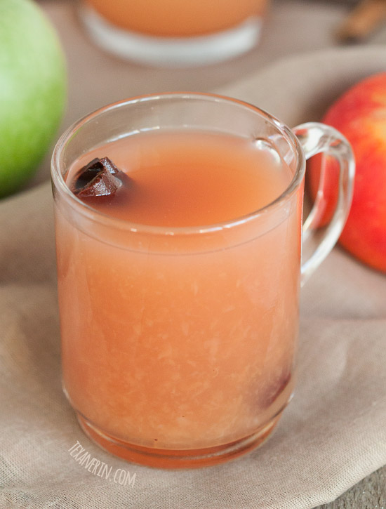 Maple Syrup Sweetened Homemade Apple Cider - naturally gluten-free, dairy-free and vegan!