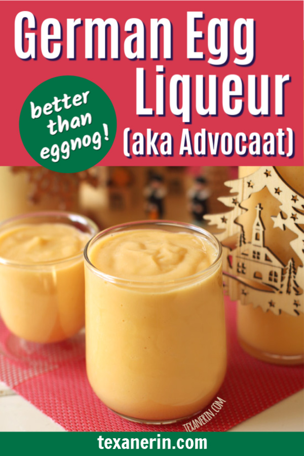 Eierlikör is German egg liqueur, which is similar to eggnog, but so much better! Thick, creamy, and perfect for Christmas or Easter.