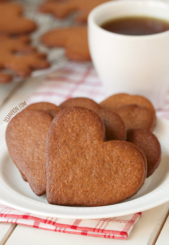 Pepparkakor (Swedish Ginger Cookies) – 100% whole wheat, dairy-free and just as crisp and delicious as the more traditional kind!